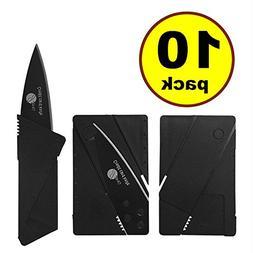 10 pack Credit Card Knife Folding Blade Knife by JJMG Pocket