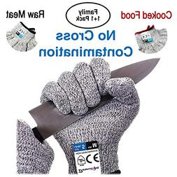 Dowellife Cut Resistant Gloves Food Grad...