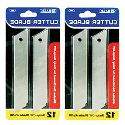 Cutter Blade 18mm Snap Off Box Utility Knife Razor Refill Re