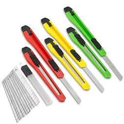 Fixson Box Cutter Utility Knife  Retractable Razor Blades Kn