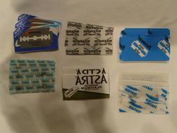 Double Edge Razor Blade Sampler - 15 blades Personna, Astra,