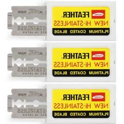 Feather Double Edge Razor Blades Japanese Hi-Stainless Pack