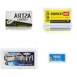Double Edge Razor Blades Sampler Pack-Feather/Astra/Derby/Do