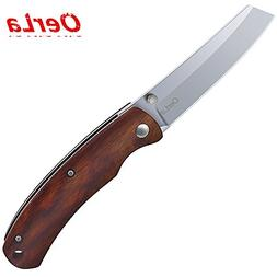 Oerla EDC Small Pocket Folding Knife with Rosewood Handle Ra
