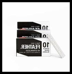 Feather FHS 10 Single Edge Razor Blades 30 Ct W Disposal Ban