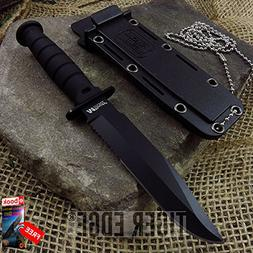 "FIXED BLADE NECK KNIFE Mtech Mini 6"" Black Military Tactical"