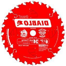 Freud D0624X Diablo 6-1/2-Inch 24-Tooth ATB Framing Saw Blad