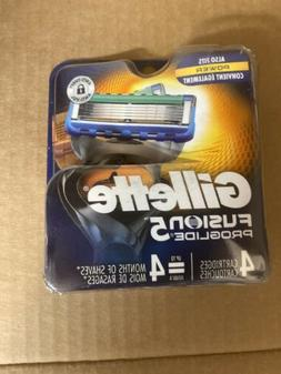 Gillette Fusion 5 ProGlide Men's Razor 5 Blades Refills 4 Co