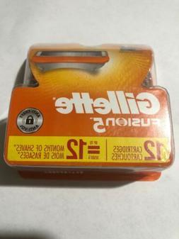 Gillette Fusion 5 Razor Blades 12 Cartridges Gillette refill