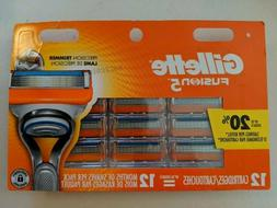 Gillette Fusion 5 Razor Blades 12 Cartridges
