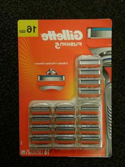 Gillette Fusion 5 Refill Razor Blades 16 pack Genuine Cartri