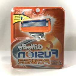 Gillette FUSION POWER Men's Razor Blades 4 Cartridges BRAND