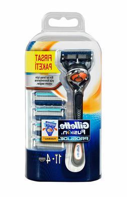 Gillette Fusion Proglide Flexball Razor + 5 Refill Blade Car