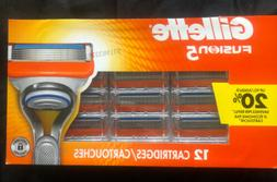 Gillette Fusion5 ProGlide Men's Razor Blade Refills, 12 Coun