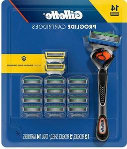 Gillette Fusion Proglide Razor Blades,12 Proglide + 2 Proshi