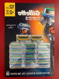 Gillette Fusion Proglide Razor Blades 12 Proglide + 2 Proshi