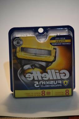 Gillette Fusion PROSHIELD 8 Pack Cartridge Refills Razor Bla