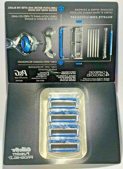 Gillette Fusion Proshield Chill Razor Blade Refills 4 count