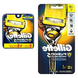 Gillette Fusion Proshield Flex ball handle with 8 count blad