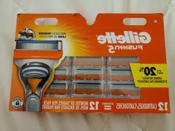 GILLETTE FUSION5  RAZOR BLADES 12 Cartridges,100%AUTHENTIC,B