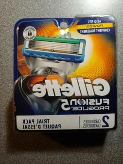 Genuine Gillette Fusion 5 ProGlide Men's Razor Blades, 2 Bla