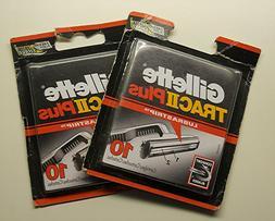 Genuine Gillette Trac II Plus Razor Blades with Lubrastrip -