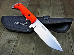 Gerber Blaze Orange Freeman Guide Fixed Blade Hunting Skinni