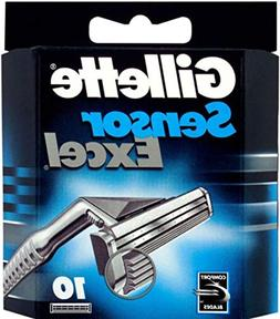 Gillett Sensor Excel Refill Blade Cartridges, 10 Ct.