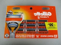 Gillette Fusion 12 Pack Cartridge Refills Razor Blades**FREE