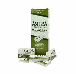 Astra Green Superior Platinum Double Edge Razor Blades **GEN