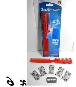 simply silver - New 6pc Hair Cutting Thinning RAZOR COMB & E