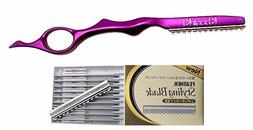 Kissaki Hair Razor Topaz Purple Pro Hair Lightweight Feather