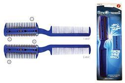 Hair Thinning Razor Hair Comb with Extra Razor Blades