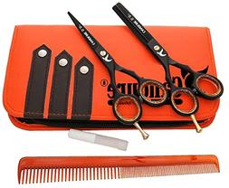 """Hairdressing Scissors 5.5"""" Barber Hair Cutting Thinning Salo"""