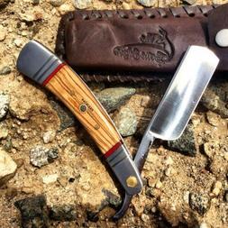"9.5"" The Bone Edge Hand Made Wood Handle Razor Blade with Le"
