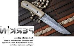 Handcrafted Damascus Hunting Knife - Full Tang Bushcraft - B