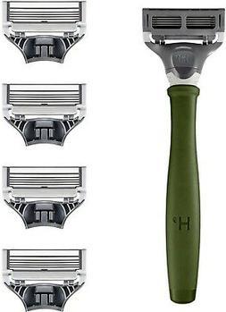 Harry's Men's Razor Set 5 Blade Refills, Travel Blade Cover,
