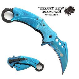 Wild Turkey Handmade Heavy Duty Hawk Bill Designed Karambit