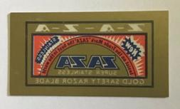"Highly Collectible NOS  ZAZA Razor Blades, ""the Gold Stand"