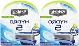 Schick Hydro 5 Blade Razor Cartridge Refill-4 ct, 2 pk