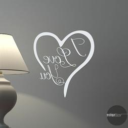 I Love You Heart Vinyl Wall Decal Sticker