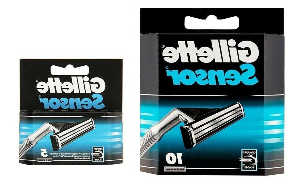*10 Sensor Blades Cartridges Refills Shaver Handle Excel 5