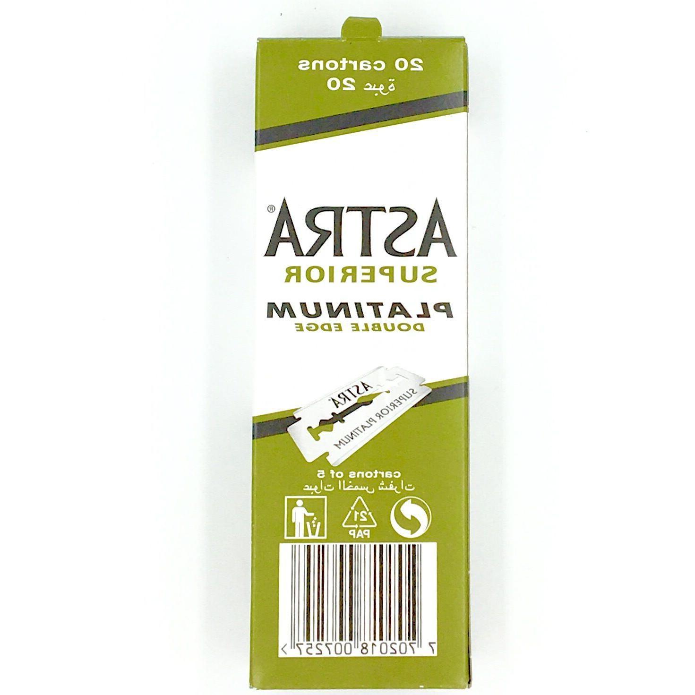 100 ASTRA Platinum Smooth Double Edge Safety Razor