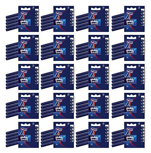 100x Gillette Blue II Disposable Razors Dual Blades Plus Chr