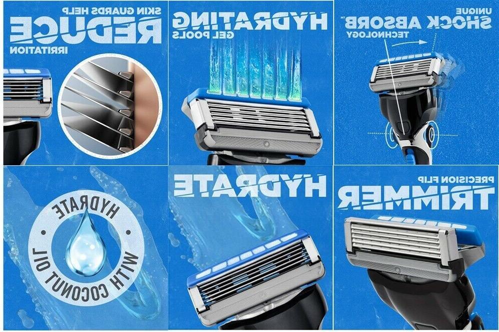 14 Schick 5 Hydrate Razor Blades Refill 8