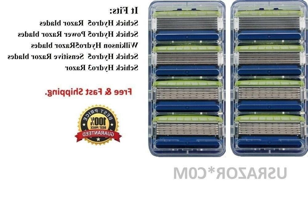 16 Schick Sensitive Razor Blades fit 5 Refill Cartridges 4 8