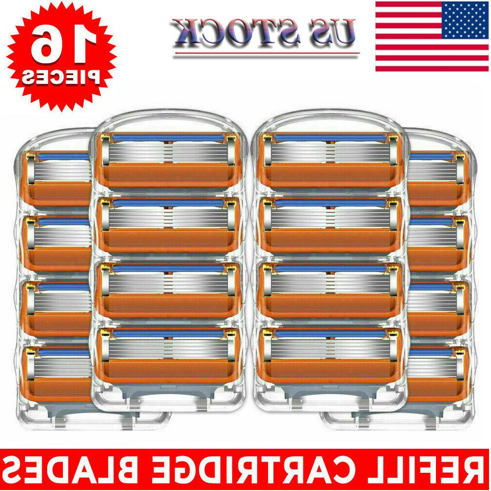 New 16PCS for Gillette Fusion 5-Layer Men's Razor Blade Refi