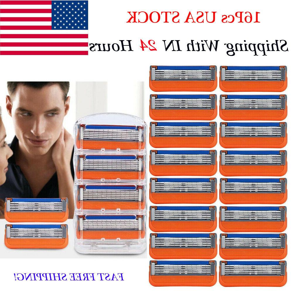 US TOP 16PCS for Gillette Fusion 5-Layer Men's Razor Blade R