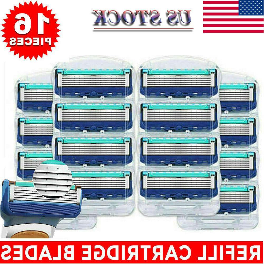 16Pcs Shaver Gillette Razor Cartridges Men Care 5-layer