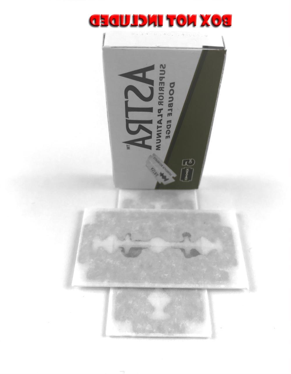 2 Astra Superior Platinum Double Edge Razor Blades DE